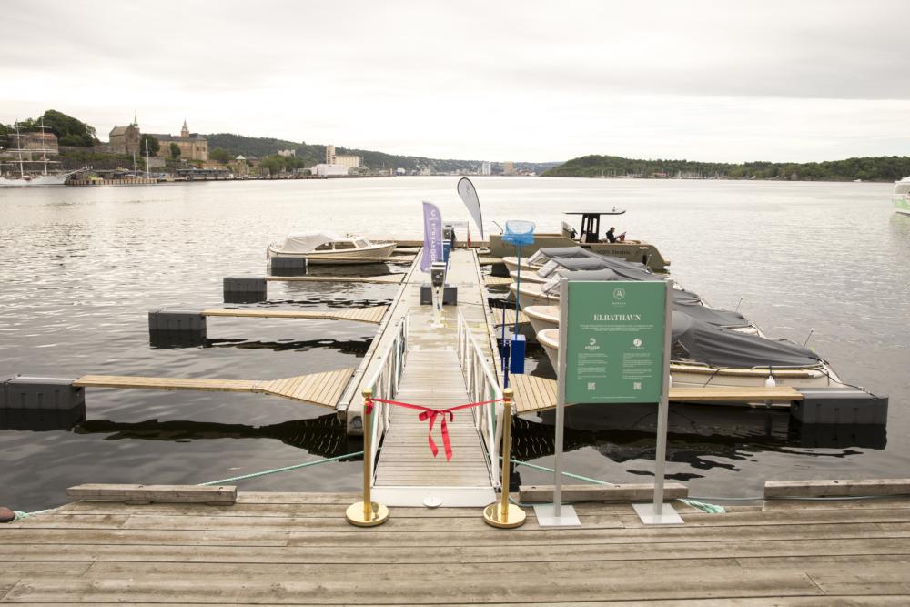 Nyåpnet elbåthavn på Aker Brygge Marina